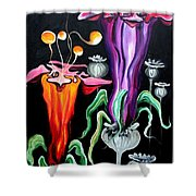 Poppies Fantasy.. Shower Curtain