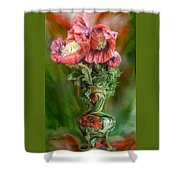 Poppies In A Poppy Vase Shower Curtain