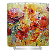 Poppies On Fire Shower Curtain
