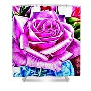 Poppin Purple Rose Shower Curtain