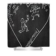Popping The Question Shower Curtain