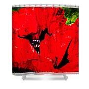 Giant Poppy Art  Shower Curtain