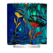 Poppy At Night Abstract 1 Shower Curtain