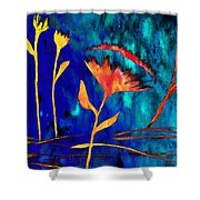 Poppy At Night Abstract 2 Shower Curtain