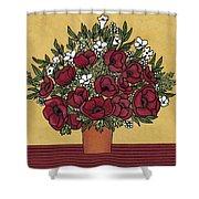 Poppy Bouquet Shower Curtain