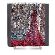Poppy Cascade Shower Curtain