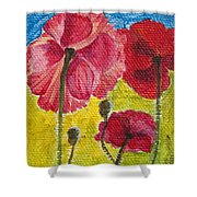 Poppy Family Shower Curtain