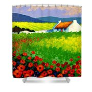 Poppy Field - Ireland Shower Curtain by John  Nolan