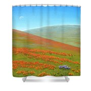 Poppy Fields Shower Curtain