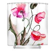 Poppy Flowers Shower Curtain