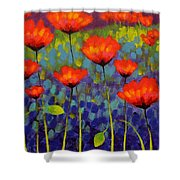 Poppy Meadow   Cropped 2 Shower Curtain