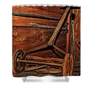 Pop's Old Mower Shower Curtain by Michael Pickett