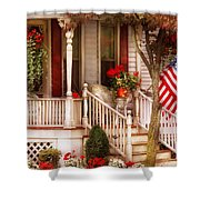 Porch - Americana Shower Curtain