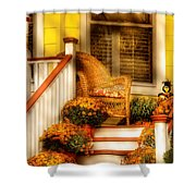 Porch - In The Light Of Autumn Shower Curtain
