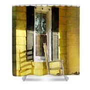 Porch - Long Afternoon Shadow Of Rocking Chair Shower Curtain