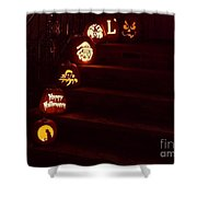 Porch Pumpkins Shower Curtain