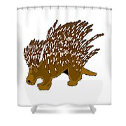 Porcupine Shower Curtain