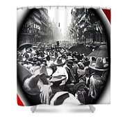 Porfirio Diaz Celebrating Republican President Benito Juarez July 1910 April 25 1911   Shower Curtain