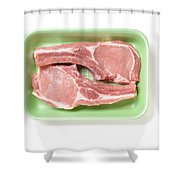 Pork Ribs With Fillet Shower Curtain