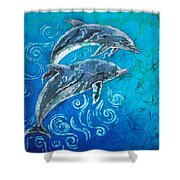 Porpoise Pair Shower Curtain