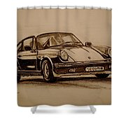 Porsche 911 Carrera Shower Curtain