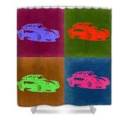 Porsche 911 Pop Art 3 Shower Curtain
