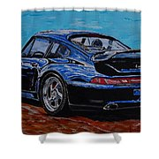Porsche 911 Turbo  Shower Curtain