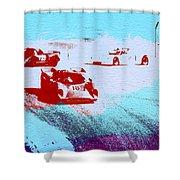 Porsche 917 Watercolor Shower Curtain