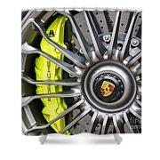 Porsche 918 Wheel Shower Curtain