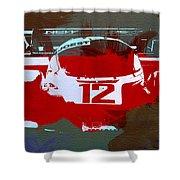 Porsche Le Mans Shower Curtain by Naxart Studio