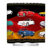Porsche Times Nine Shower Curtain