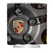 Porsche Vorsteiner Wheel Logo Shower Curtain