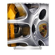 Porsche Wheel Shower Curtain
