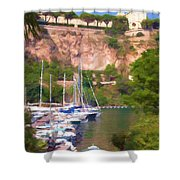Port And Palace Shower Curtain