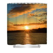Port Angeles Sunburst Shower Curtain
