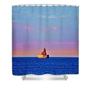 Port Austin Reef Light Shower Curtain