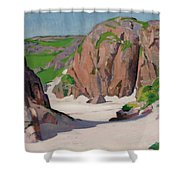 Port Bhan  Iona Shower Curtain by Francis Campbell Boileau Cadell