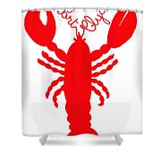 Port Clyde Maine Lobster With Feelers 201300605 Shower Curtain