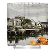 Port Clyde On The Coast Of Maine Shower Curtain