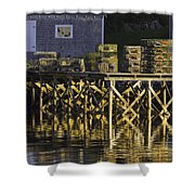 Port Clyde Pier On The Coast Of Maine Shower Curtain