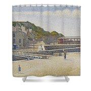 Port En Bessin Shower Curtain