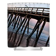 Port Hueneme Pier Askew Shower Curtain