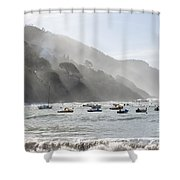 Port In Sestri Levante Shower Curtain