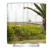 Port Lavaca Migratory Bird Stopover Shower Curtain
