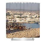Port Of Agadir Morocco Shower Curtain