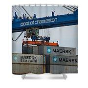 Port Of Charleston Shower Curtain