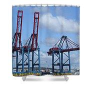 port of Gothenburg Shower Curtain