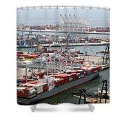 Port Of Long Beach Shower Curtain