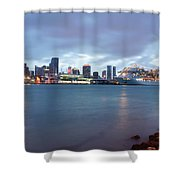Port Of Miami At Dusk Shower Curtain
