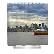 Port Of Vancouver Bc Panorama Shower Curtain